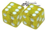 Dice Valve Cap YELLOW (pair)