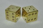 Dice Valve Cap GOLD (pair)