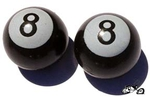 8-Ball Valve Cap BLACK (pair)