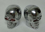 Metal Skull Valve Cap CHROME (pair)