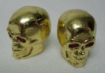 Metal Skull Valve Cap GOLD (pair)