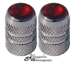 Diamond Valve Cap RED (pair)