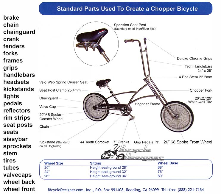 Choppper Bicycle Diagram