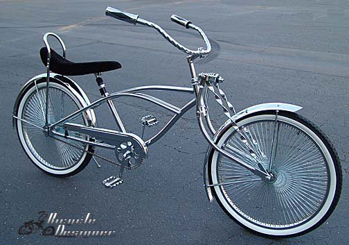 how to make a beach cruiser into a lowrider