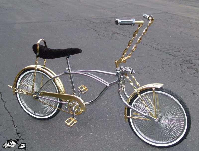 gold lowrider bike. Black Bedroom Furniture Sets. Home Design Ideas