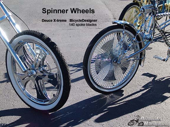 Left Side Is A Chopper Fork With Deuce Xtreme Front 20 Spinning Wheel X 2125 White Wall Tire Right Bent Springer
