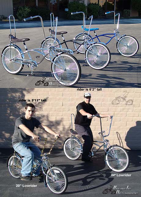 stretch lowrider bicycle 24 frame and wheels