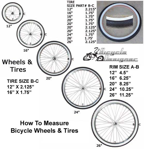 Bike Rim Sizes standard quot bicycle wheel
