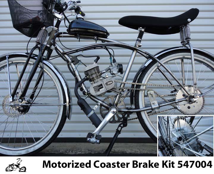 Clam Shell Coaster Wheel Brake Kit For Motorized Bicycles