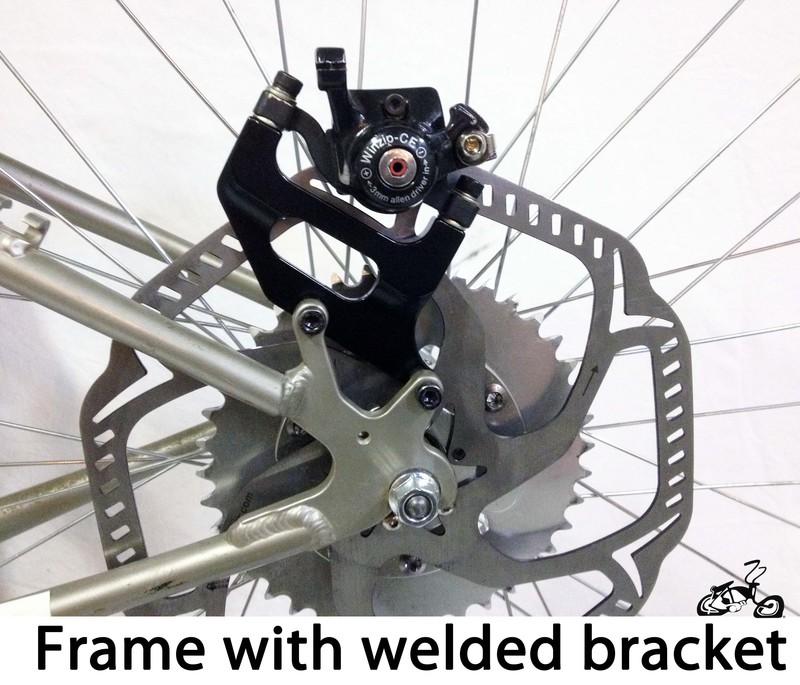 Motorized Bicycle Disc Brake Kit For A Rear Disc Brke Wheel
