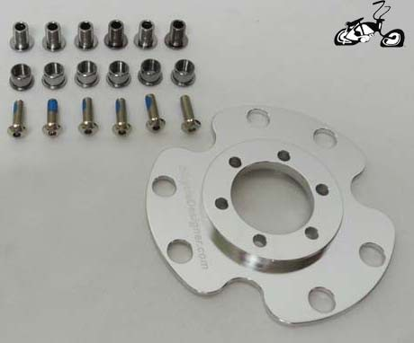 Disc Brake Rotor And Motorized Sprocket Adapter For Your Hub