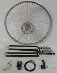 Cuda Fork Front Disc Brake Wheel Kit 26/68/Black