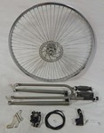 Cuda Fork Front Disc Brake Wheel Kit 26/68/Raw