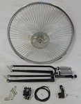 Cuda Fork Front Disc Brake Wheel Kit 26/140/Black