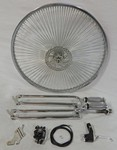Cuda Fork Front Disc Brake Wheel Kit 26/140/Chrome