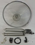 Cuda Fork Front Disc Brake Wheel Kit 26/140/Raw