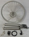 Cuda Fork Front Disc Brake Wheel Kit 24/36/Raw