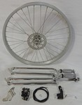 Cuda Fork Front Disc Brake Wheel Kit 24/36/Chrome
