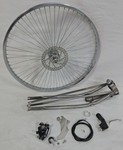 Springer Fork Front Disc Brake Wheel Kit 26/68/Raw
