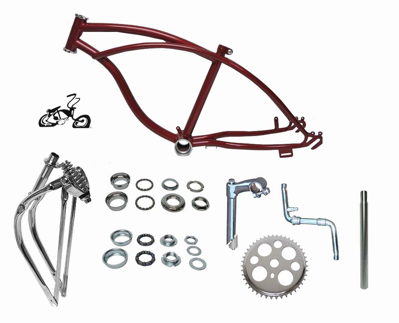 20 lowrider bike frame dark red