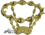 Lowrider Bicycle Flat Twist Steering Wheel GOLD