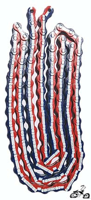 Chain American Red White Blue