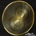 "26"" 140 Spoke Front Wheel GOLD"