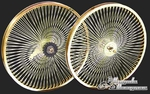 "20"" 140 Spoke Coaster Wheel Set GOLD"