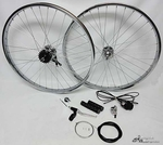 "26"" 36 spoke 3-speed Wheel Set CHROME"