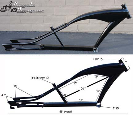 how to build a chopper bicycle frame