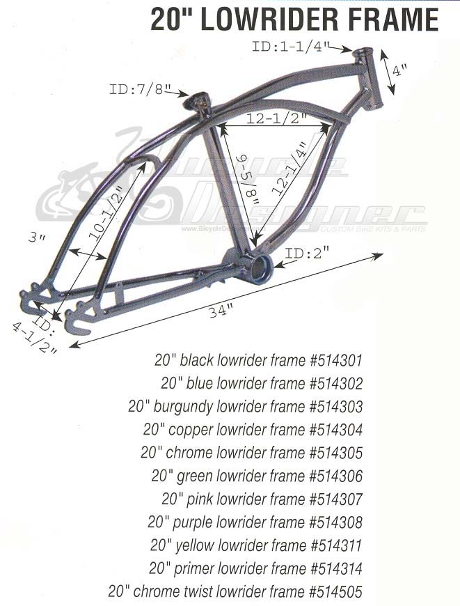 Lowrider Bicycle Frame 20\