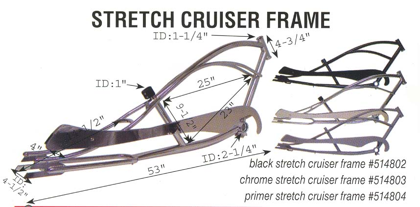 Chopper Bicycle Designs Stretch Chopper Bicycle Frame