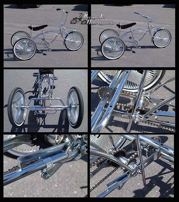 Tricycle Bike Parts : Lowrider holow hub trike fenders