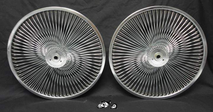 20 Quot 140 Spoke Hollow Hub Wheel Set Chrome