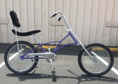 High Back Fat Tire Chopper PURPLE