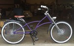 Purple Dual Disc Chopper Bicycle