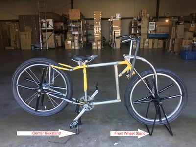Custom Welded Square Frame Display Bicycle