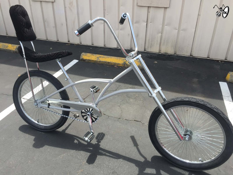 Electric Bikes For Sale >> Mens High Back Chopper Bicycle with Purple Color Frame