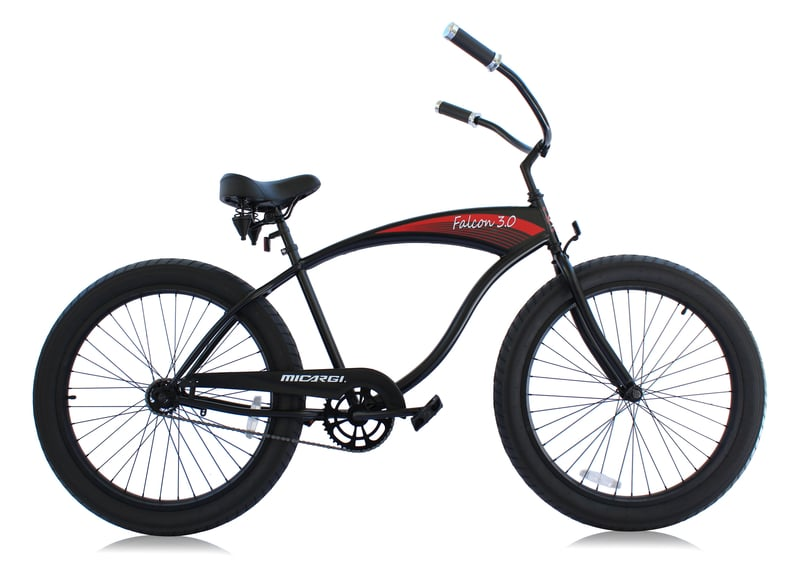 Micargi Falcon 3.0 Men's Beach Cruiser Bicycle Black