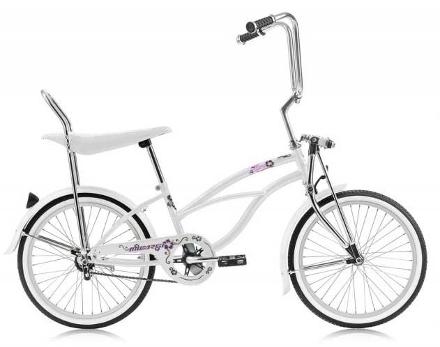 Micargi Hero Lowrider Bike For Girls White