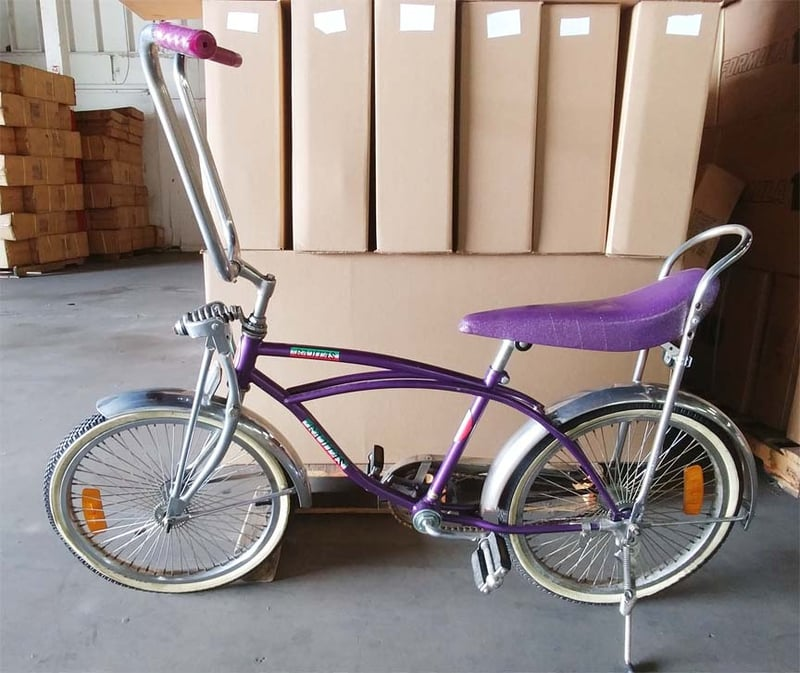 Purple Lowrider Bike For Easy Riding