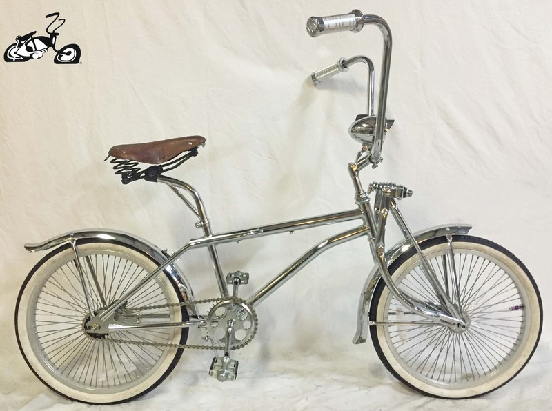 BMX Lowrider Bike with Chrome and Leather