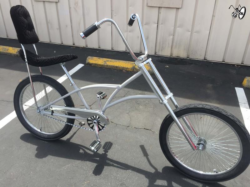 Mens High Back Chopper Bicycle with Primer Color Frame