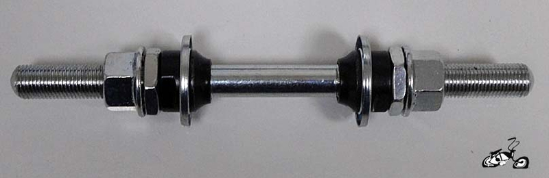 Bicycle Axle Parts : Bicycle front wheel axle