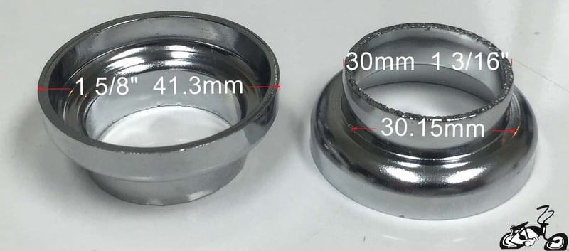 Headset Cups For A Bicycle Frame Size 1 3 16 Quot Or 30mm