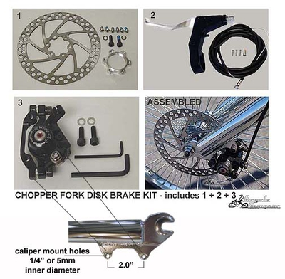 Chopper brake disc kit