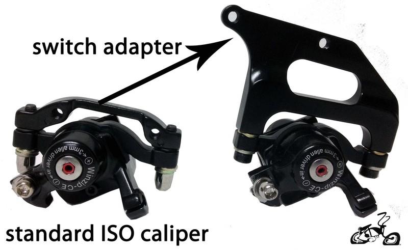 Bicycle Disc Brake Kit Rotor Caliper Adapter Lever Cable Cruiser Chopper Bikes