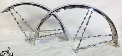 "Twisted 26"" Bicycle Ducktail Fender Set"