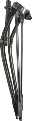"26"" Straight Springer Fork - Raw Metal Legs With Chrome Parts"