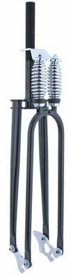 "Square Top Dual Springer Fork 1"" Threaded Black"
